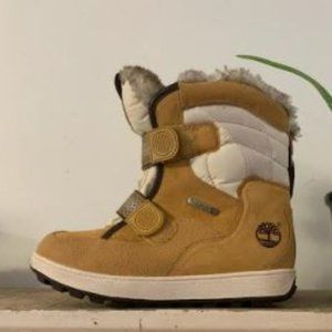 TIMBERLAND Thermolite Leather, Canvas, Velcro Faux
